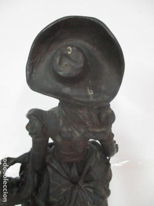 Arte: Preciosa Escultura de Dama - Bronce Patinado - Firma George Van Der Straeten (Bélgica 1856-1928) - Foto 24 - 160929338