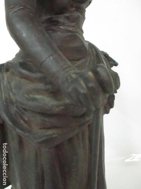 Arte: Preciosa Escultura de Dama - Bronce Patinado - Firma George Van Der Straeten (Bélgica 1856-1928) - Foto 27 - 160929338