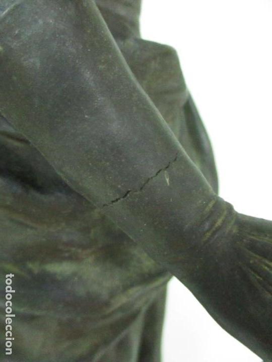 Arte: Preciosa Escultura de Dama - Bronce Patinado - Firma George Van Der Straeten (Bélgica 1856-1928) - Foto 28 - 160929338