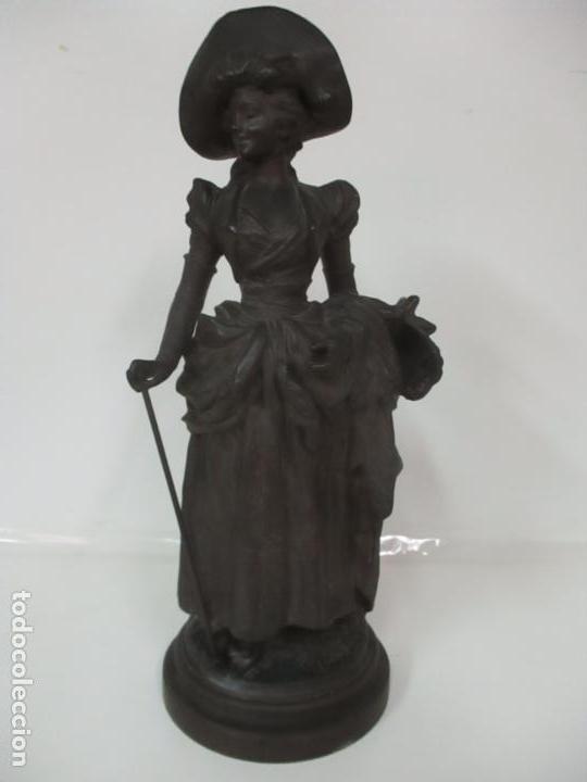 Arte: Preciosa Escultura de Dama - Bronce Patinado - Firma George Van Der Straeten (Bélgica 1856-1928) - Foto 34 - 160929338