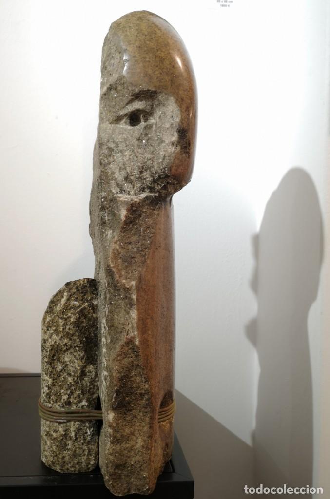Arte: Francisco Pazos. (Cobas, 1961) Batallador. Granito - Foto 2 - 160944978