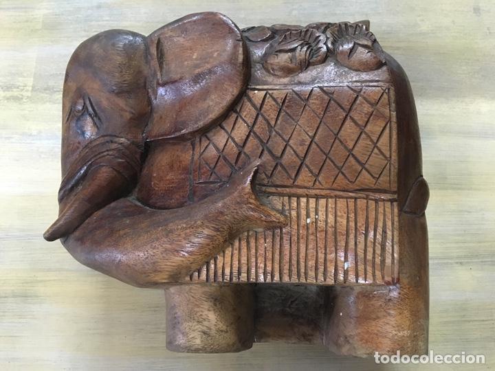 Arte: Gran Elefante tallado en madera - Foto 2 - 161355446