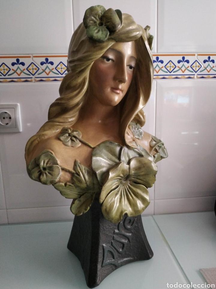 ESCULTURA NINFA TERRACOTA ART NOUVEAU FRANCESA, MODERNISTA, ESTILO GOLDSCHEIDER (Arte - Escultura - Terracota )