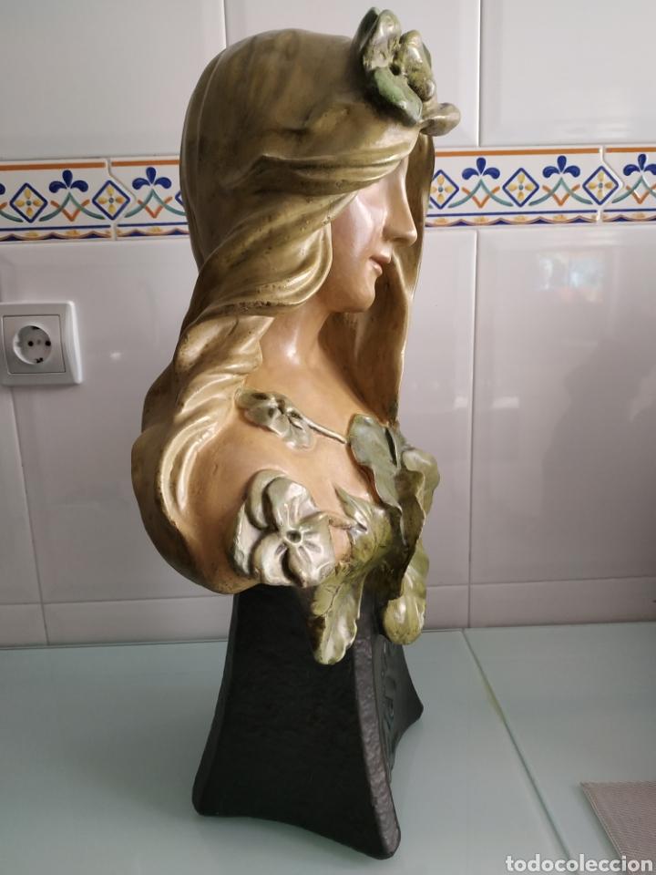 Arte: ESCULTURA NINFA TERRACOTA ART NOUVEAU FRANCESA, MODERNISTA, ESTILO GOLDSCHEIDER - Foto 5 - 161371130