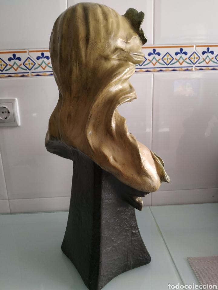 Arte: ESCULTURA NINFA TERRACOTA ART NOUVEAU FRANCESA, MODERNISTA, ESTILO GOLDSCHEIDER - Foto 6 - 161371130