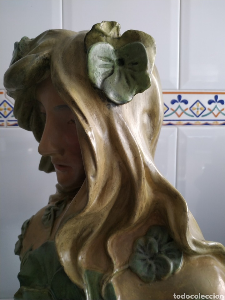 Arte: ESCULTURA NINFA TERRACOTA ART NOUVEAU FRANCESA, MODERNISTA, ESTILO GOLDSCHEIDER - Foto 10 - 161371130