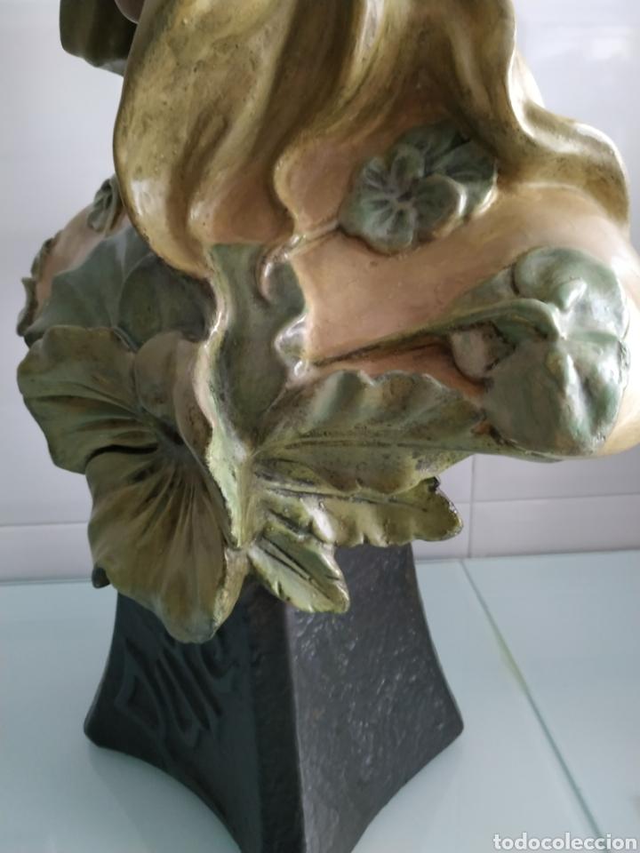 Arte: ESCULTURA NINFA TERRACOTA ART NOUVEAU FRANCESA, MODERNISTA, ESTILO GOLDSCHEIDER - Foto 11 - 161371130