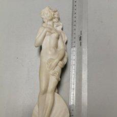 Arte: EL NACIMIENTO DE VENUS (BOTTICELLI) EN ALABASTRO MARMOL ESCULPIDO A MANO A. ANILCARA SANTINI ITALIA. Lote 161825670