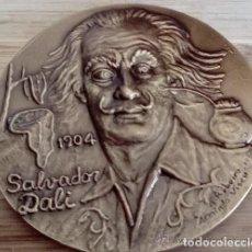 Arte: MEDALLA MEDALLON EN BRONCE MACIZO SALVADOR DALÍ TENTACION DE SAN ANTONIO EDICION LIMITADA Y NUMERADA. Lote 161833884