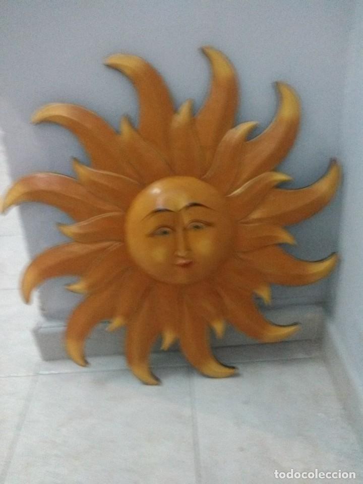 SOL DE MADERA MACIZA (Arte - Escultura - Madera)