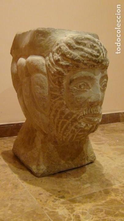 Arte: Bebedero de piedra con busto tallado...VER VIDEO!!! - Foto 2 - 161996786
