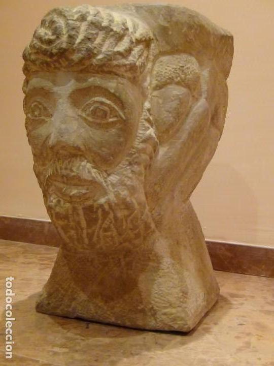 Arte: Bebedero de piedra con busto tallado...VER VIDEO!!! - Foto 4 - 161996786