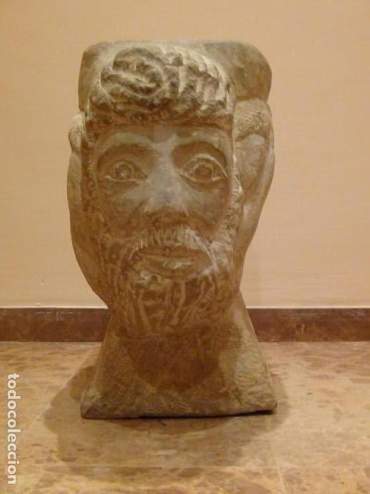 Arte: Bebedero de piedra con busto tallado...VER VIDEO!!! - Foto 5 - 161996786
