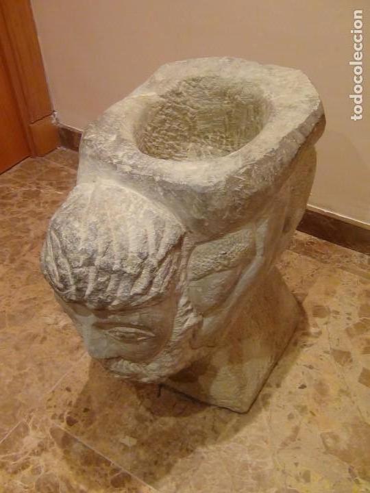 Arte: Bebedero de piedra con busto tallado...VER VIDEO!!! - Foto 6 - 161996786