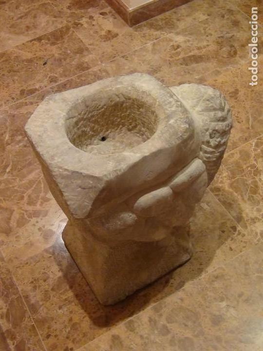 Arte: Bebedero de piedra con busto tallado...VER VIDEO!!! - Foto 10 - 161996786