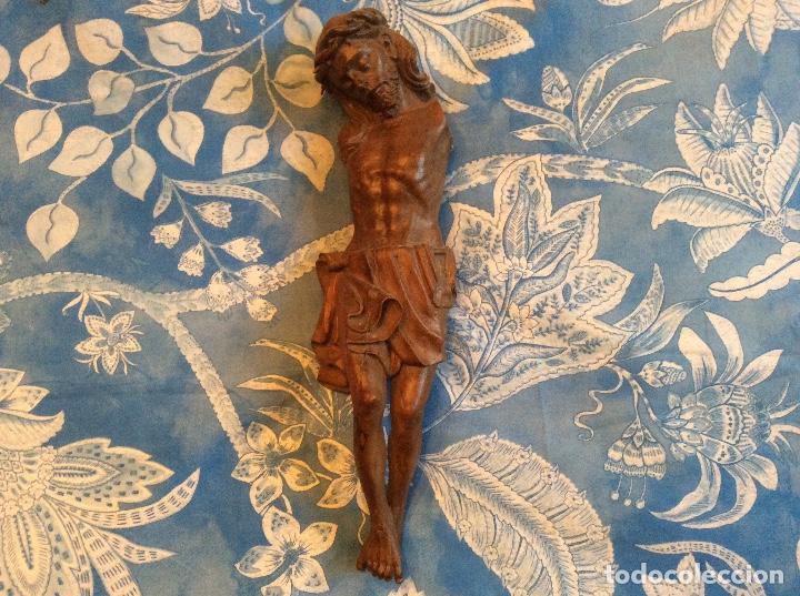 CRISTO EN MADERA TALLADA SIGLO XVIII (Arte - Escultura - Madera)