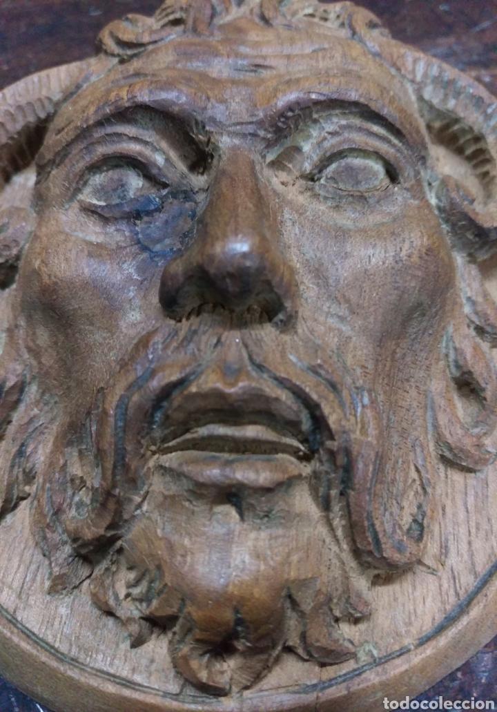 Arte: Antigua cara tallada en madera - Foto 3 - 162697910