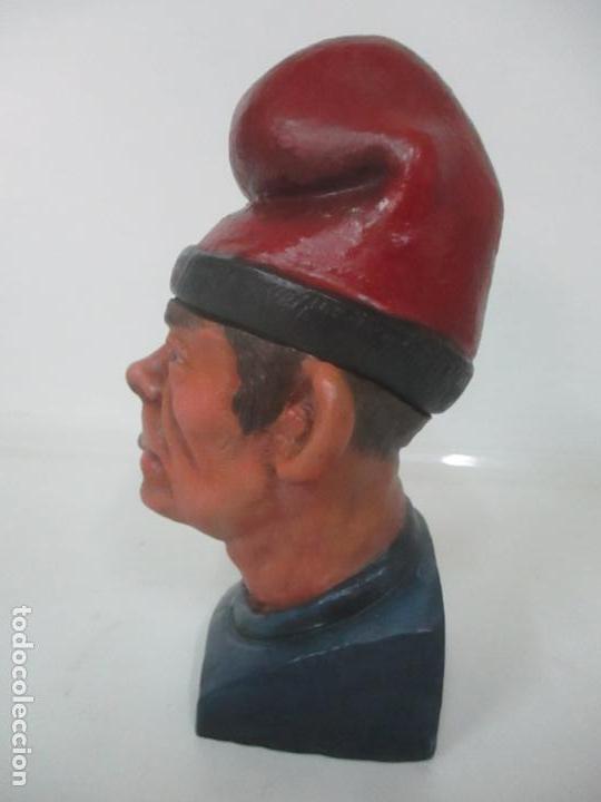 Arte: Curiosa Tabaquera - May Fumen - Sello Buxo, Olot - Terracota Policromada - Principios S. XX - Foto 5 - 162932634