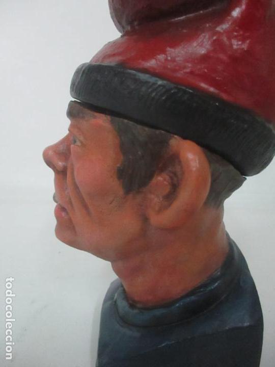 Arte: Curiosa Tabaquera - May Fumen - Sello Buxo, Olot - Terracota Policromada - Principios S. XX - Foto 6 - 162932634