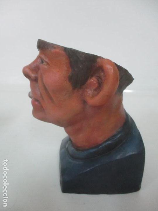 Arte: Curiosa Tabaquera - May Fumen - Sello Buxo, Olot - Terracota Policromada - Principios S. XX - Foto 13 - 162932634