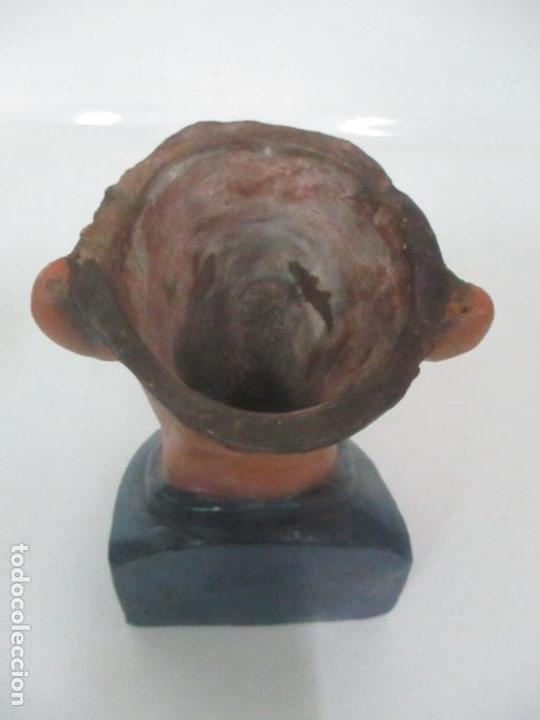 Arte: Curiosa Tabaquera - May Fumen - Sello Buxo, Olot - Terracota Policromada - Principios S. XX - Foto 15 - 162932634