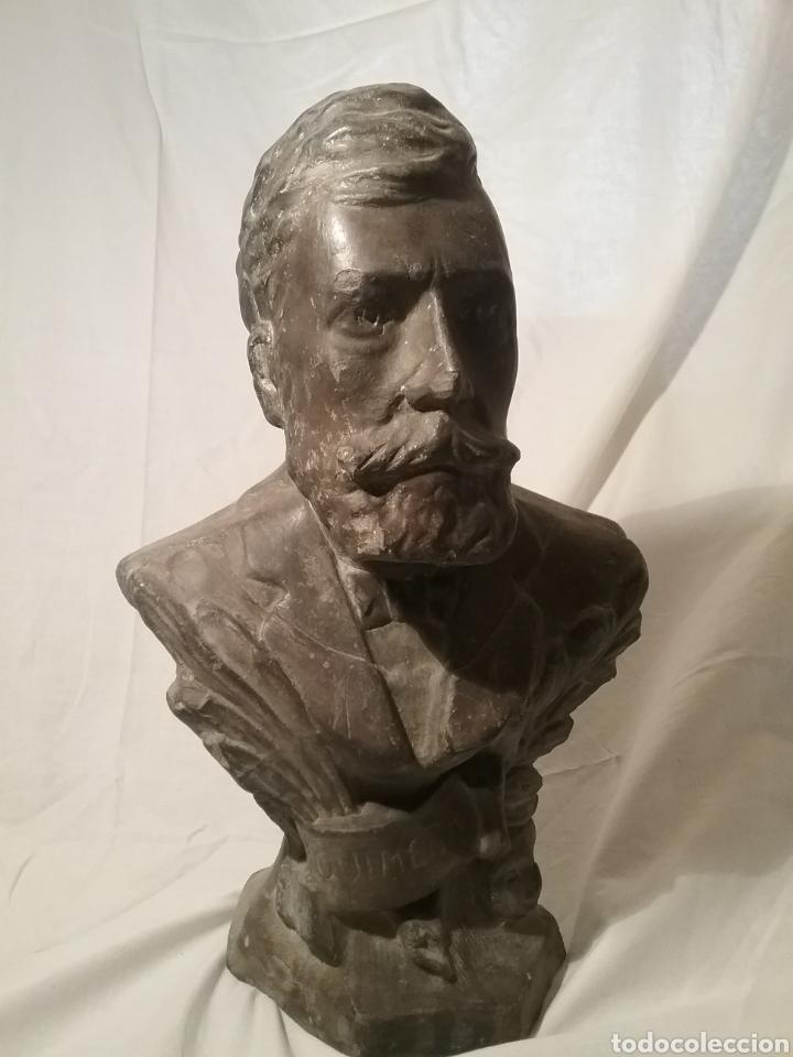 Arte: Busto de Angel Guimerá en terracota, altura 32cm x 19 cm - Foto 2 - 163080333