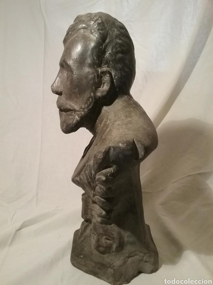 Arte: Busto de Angel Guimerá en terracota, altura 32cm x 19 cm - Foto 4 - 163080333