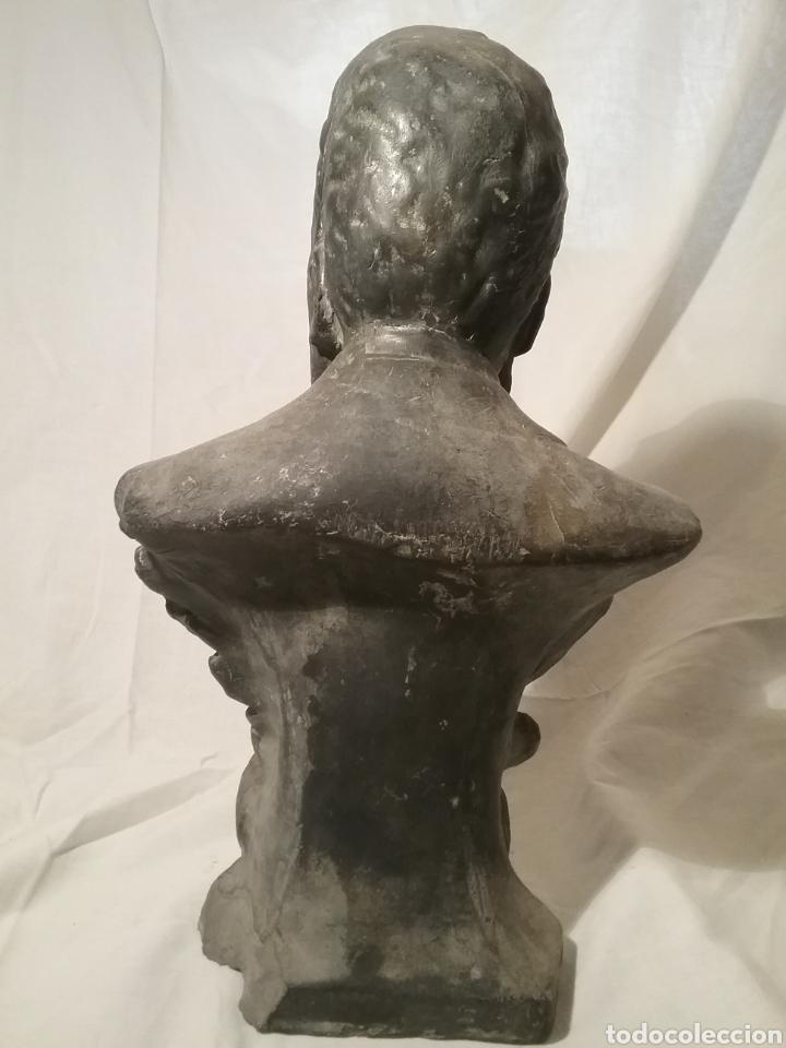 Arte: Busto de Angel Guimerá en terracota, altura 32cm x 19 cm - Foto 5 - 163080333