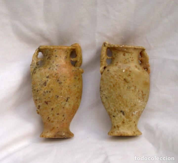 Arte: parejas de floreros pequeños en piedra de jabón - Foto 2 - 163709650