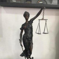 Arte: ESCULTURA DE BRONCE , FIRMADA A. MAYER , JUSTICIA . 55 CM.. Lote 206313016