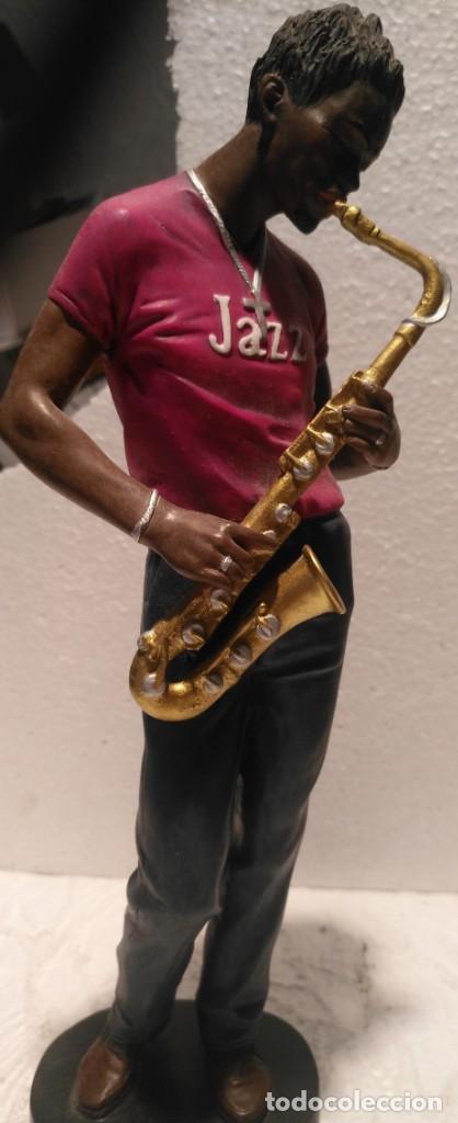 Arte: Lote 4 figuras de Conjunto de música de jazz 27x10 - Foto 4 - 163757202