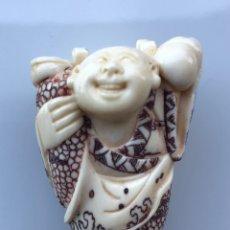 Arte - Antiguo Netsuke marfil policromado - 164009198