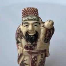 Arte - Antiguo Netsuke marfil policromado - 164013542