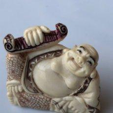 Arte - Antiguo Netsuke marfil policromado - 164014512