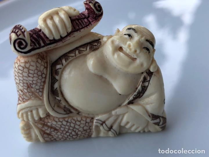 Arte: Antiguo Netsuke marfil policromado - Foto 2 - 164014512