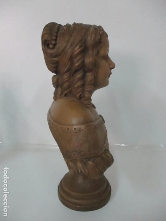 Arte: Preciosa Escultura - Busto de Dama, Condesa Francesa - Firma Charles Caron (Beauvais 1850) Francia - Foto 4 - 164471386