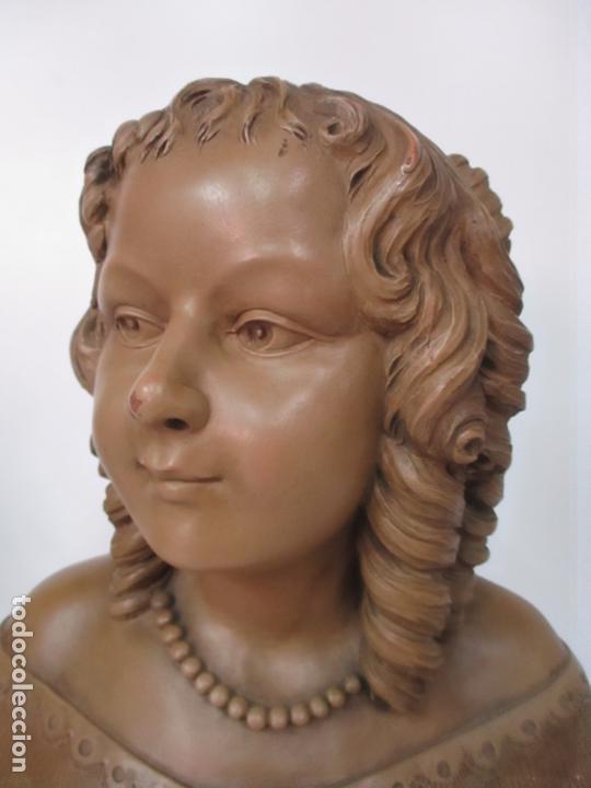 Arte: Preciosa Escultura - Busto de Dama, Condesa Francesa - Firma Charles Caron (Beauvais 1850) Francia - Foto 9 - 164471386