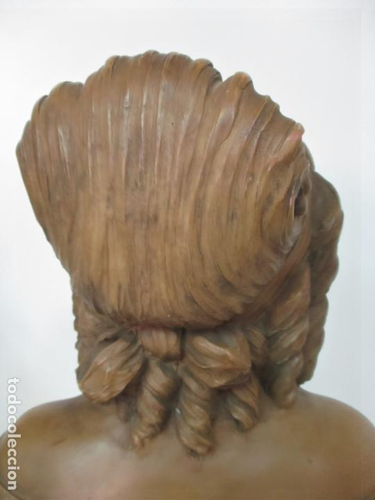 Arte: Preciosa Escultura - Busto de Dama, Condesa Francesa - Firma Charles Caron (Beauvais 1850) Francia - Foto 15 - 164471386