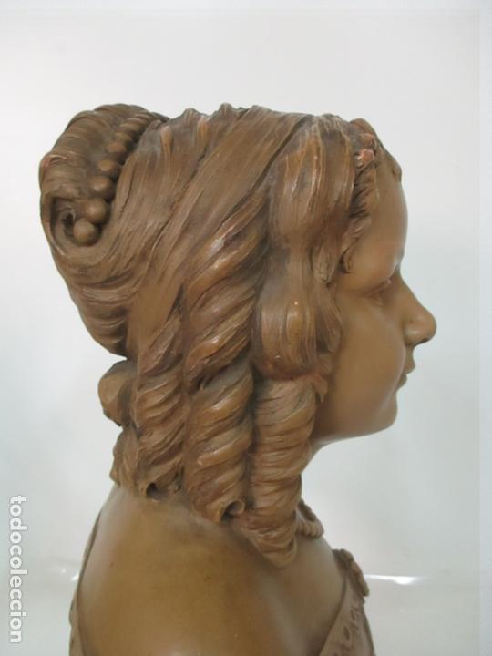 Arte: Preciosa Escultura - Busto de Dama, Condesa Francesa - Firma Charles Caron (Beauvais 1850) Francia - Foto 18 - 164471386