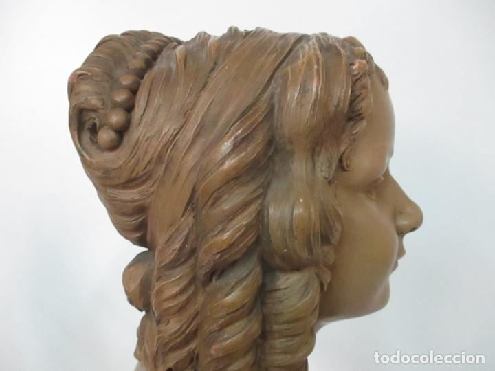 Arte: Preciosa Escultura - Busto de Dama, Condesa Francesa - Firma Charles Caron (Beauvais 1850) Francia - Foto 20 - 164471386