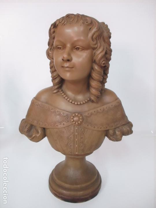 Arte: Preciosa Escultura - Busto de Dama, Condesa Francesa - Firma Charles Caron (Beauvais 1850) Francia - Foto 24 - 164471386