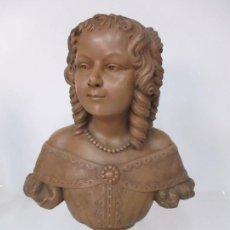 Arte: PRECIOSA ESCULTURA - BUSTO DE DAMA, CONDESA FRANCESA - FIRMA CHARLES CARON (BEAUVAIS 1850) FRANCIA. Lote 164471386