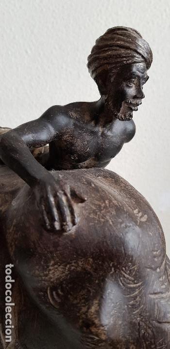 Arte: ELEFANTE DE RESINA CON SU MAMOUTH - Foto 10 - 173669573