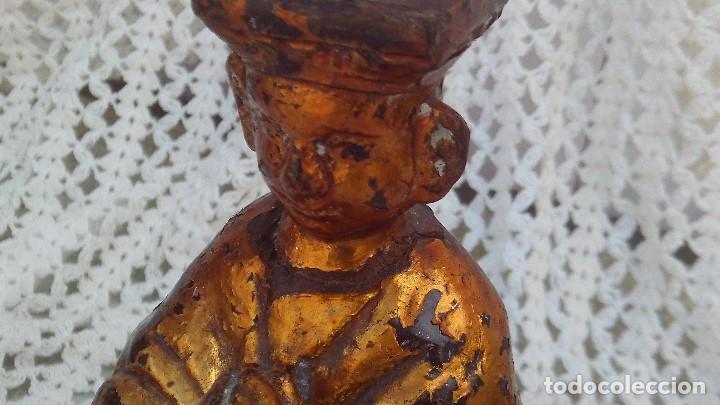 Arte: talla dorada en madera,china siglo xix - Foto 2 - 164856850