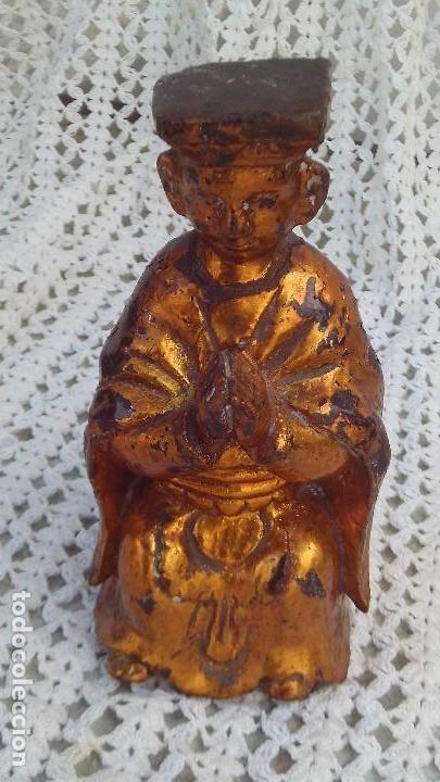 Arte: talla dorada en madera,china siglo xix - Foto 4 - 164856850