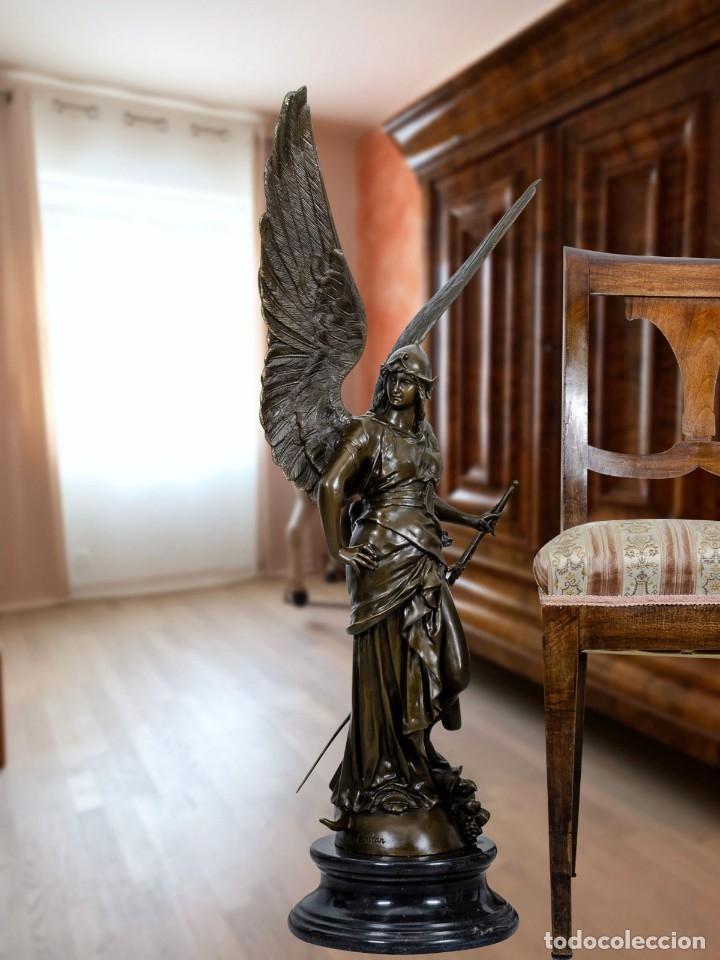 Arte: ESPECTACULAR ESCULTURA DE GRAN TAMAÑO DEL ANGEL DE LA PAZ (95,4cm x 29,7kg) - Foto 11 - 45944585