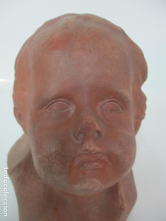 Arte: Escultura - Busto en Terracota - Niño - Firma M.P. 30-4-1913, Reus - Foto 5 - 165070302