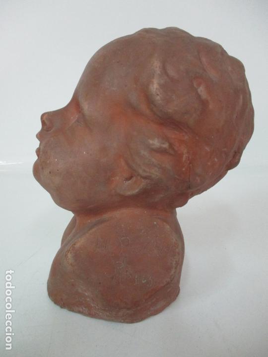 Arte: Escultura - Busto en Terracota - Niño - Firma M.P. 30-4-1913, Reus - Foto 6 - 165070302