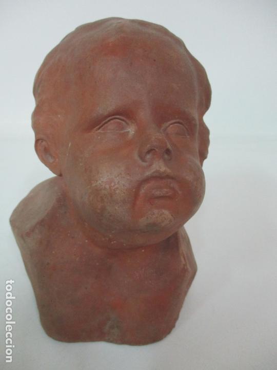 Arte: Escultura - Busto en Terracota - Niño - Firma M.P. 30-4-1913, Reus - Foto 16 - 165070302