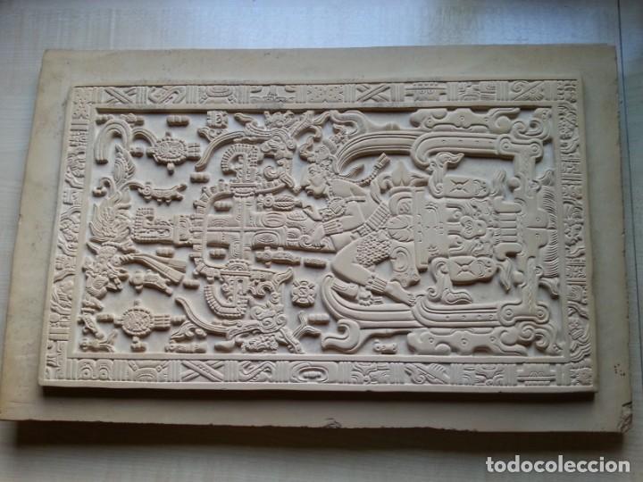 LOSA DE LA TUMBA DEL ASTRONAUTA DE PALENQUE - ÚNICA ORIGINAL - HECHA A MANO EN PALENQUE - MÉXICO (Arte - Escultura - Piedra)